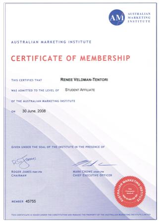 AMI certificate