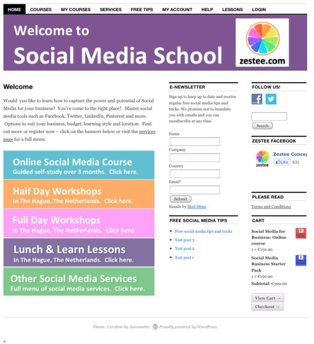 social media school website