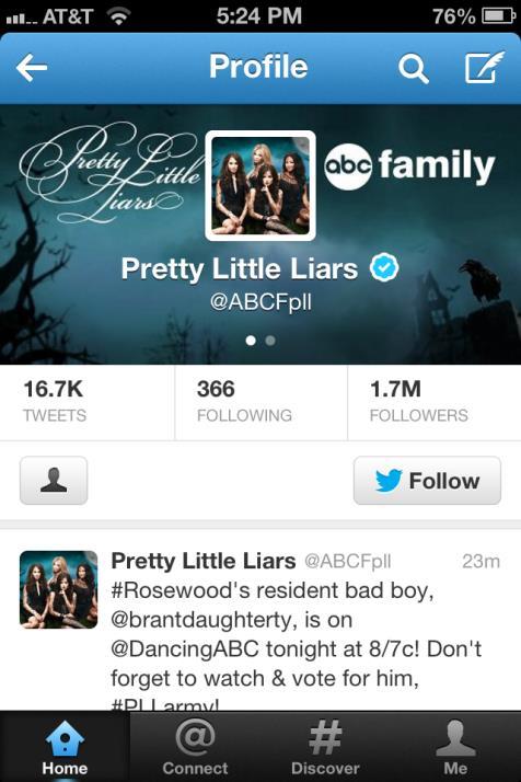 Twitter Pretty Little Liars