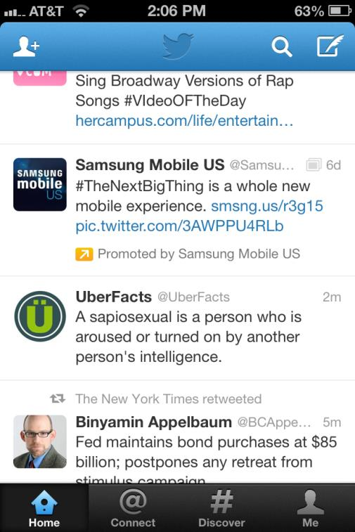 Samsung Twitter Feed