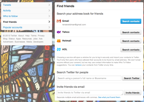 Twitter how to stop sending friend invites