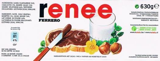 Nutella personal label