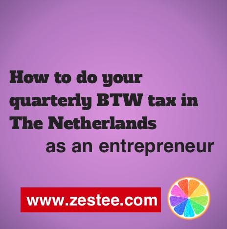 How to do your quarterly BTW tax