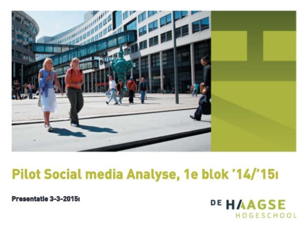 Pilot social media analysis